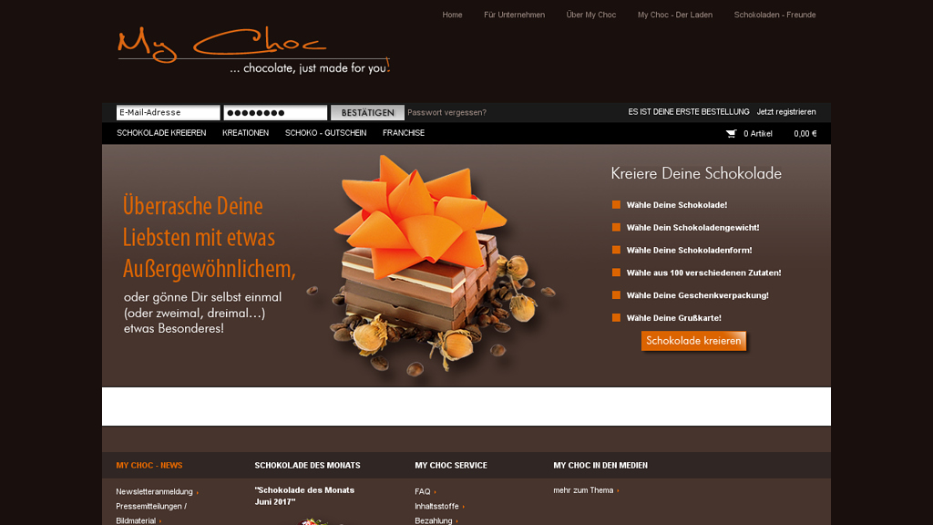 My Choc Online-Shop