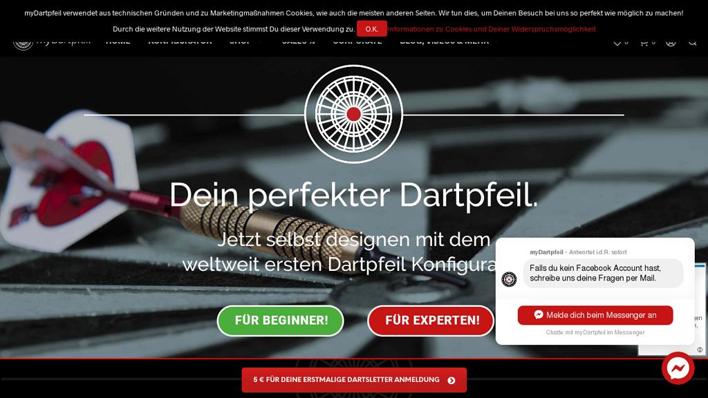 myDartpfeil Online-Shop