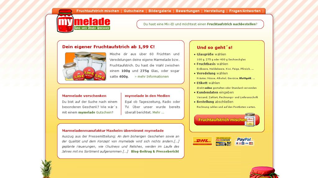 mymelade Online-Shop