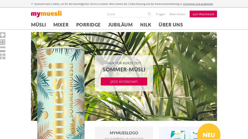 mymuesli Online-Shop