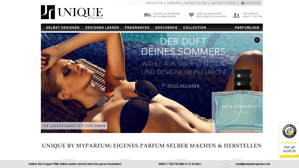 UNIQUE Online-Shop