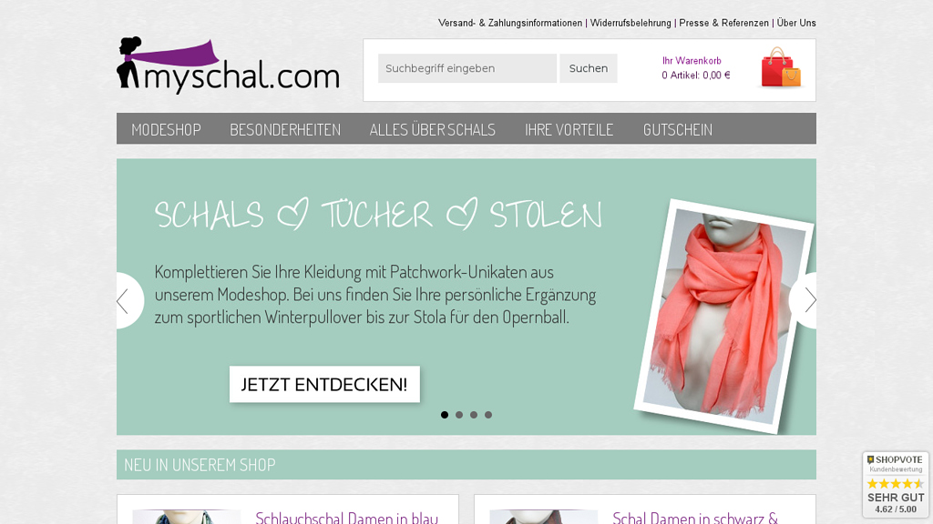 myschal.com Online-Shop