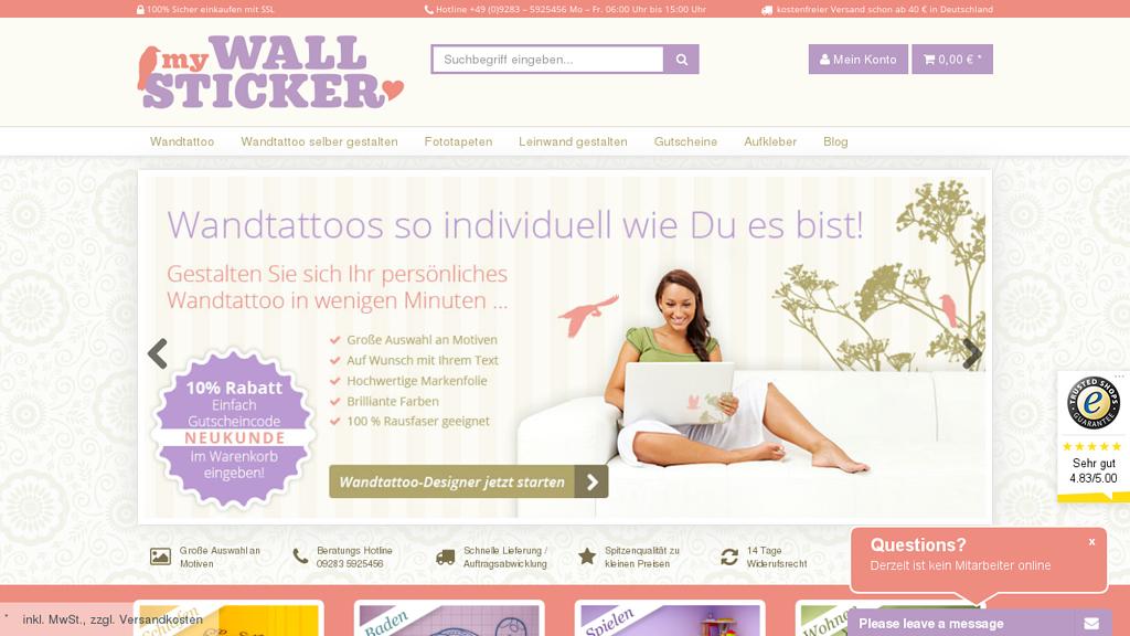 My Wallsticker Online-Shop