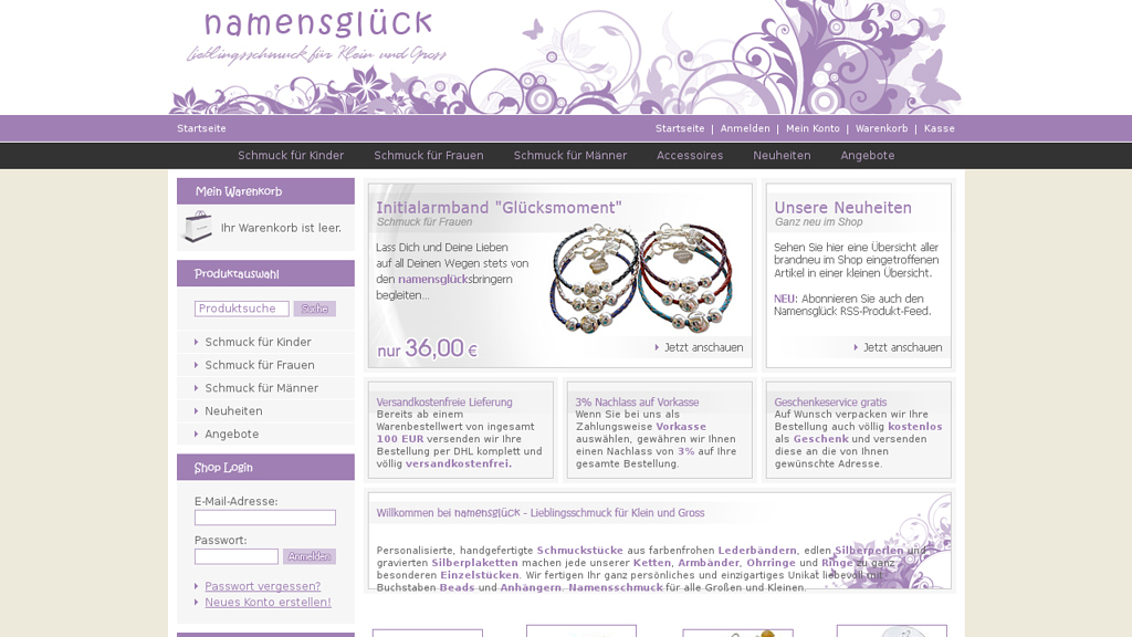 Namensglück Online-Shop