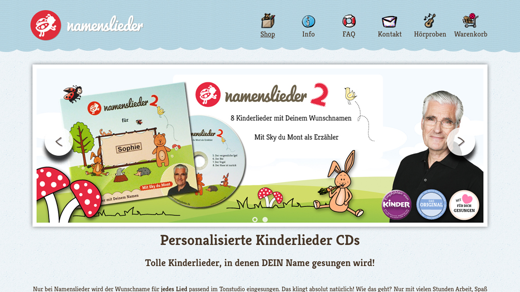 Namenslieder.de Online-Shop