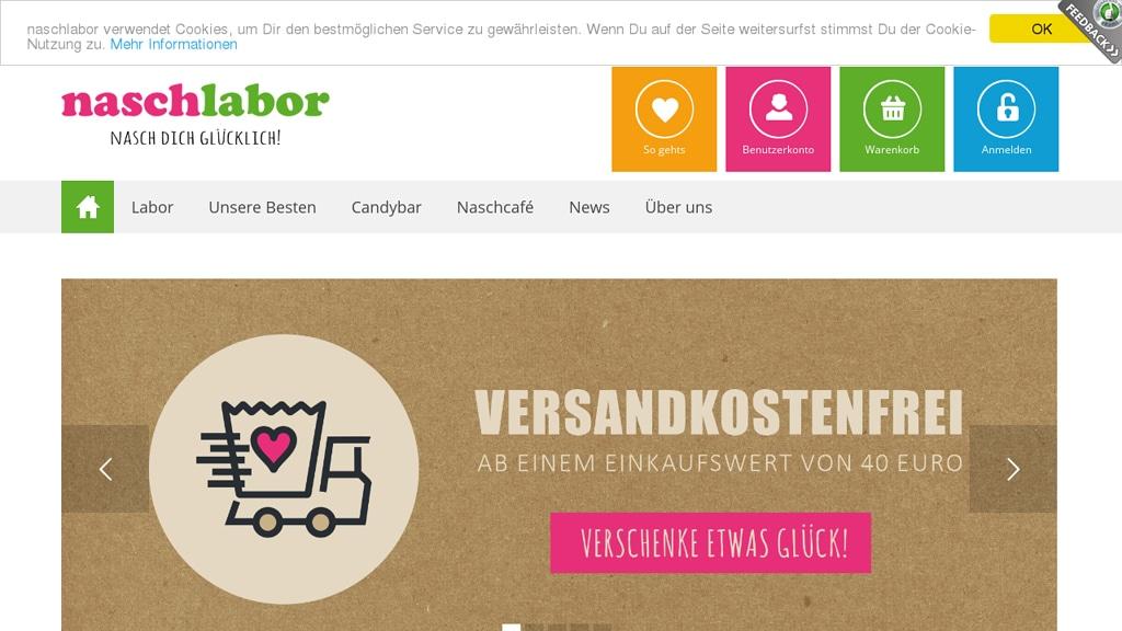 naschlabor Online-Shop