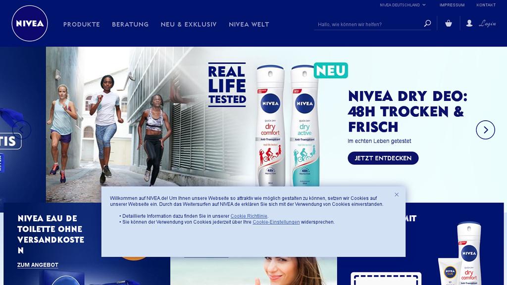NIVEA (Fotodose) Online-Shop