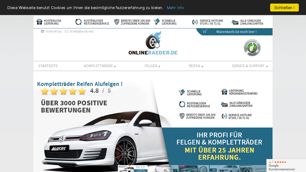 OnlineRäder.de Online-Shop
