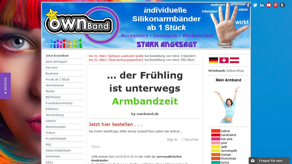 ownBand Online-Shop