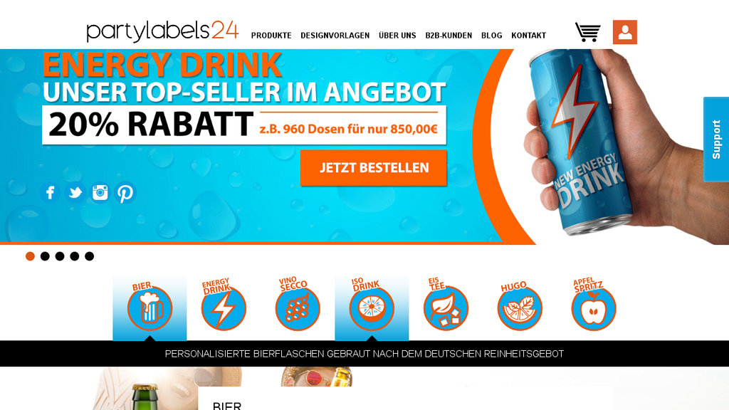 Partylabels24 Online-Shop