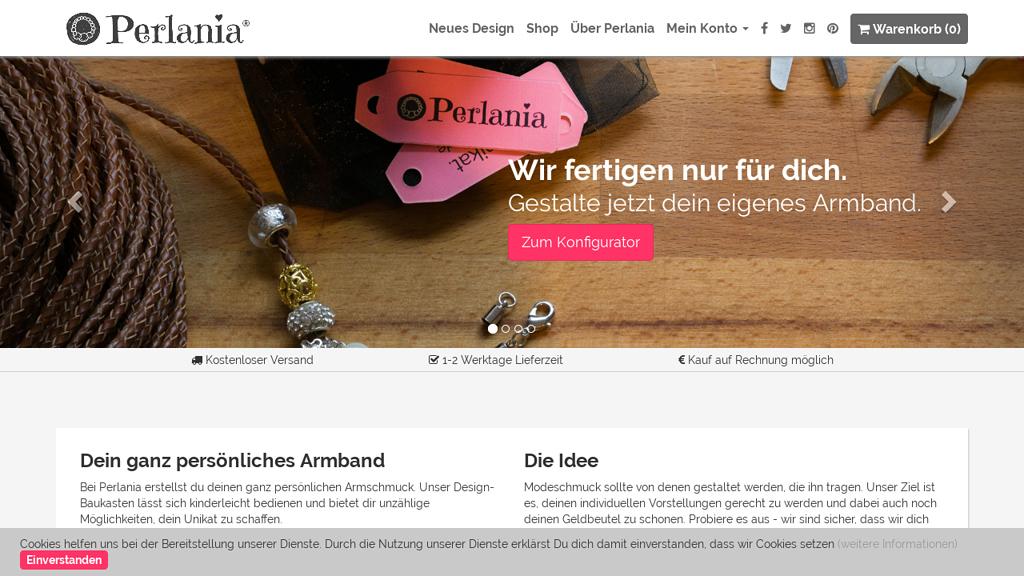 Perlania Online-Shop