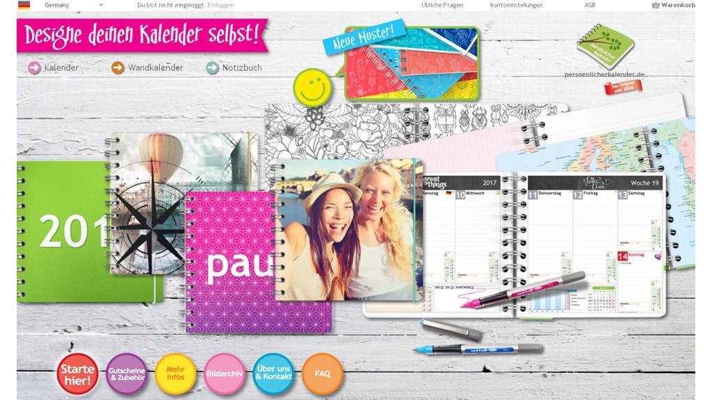 Persönlicher Kalender Online-Shop