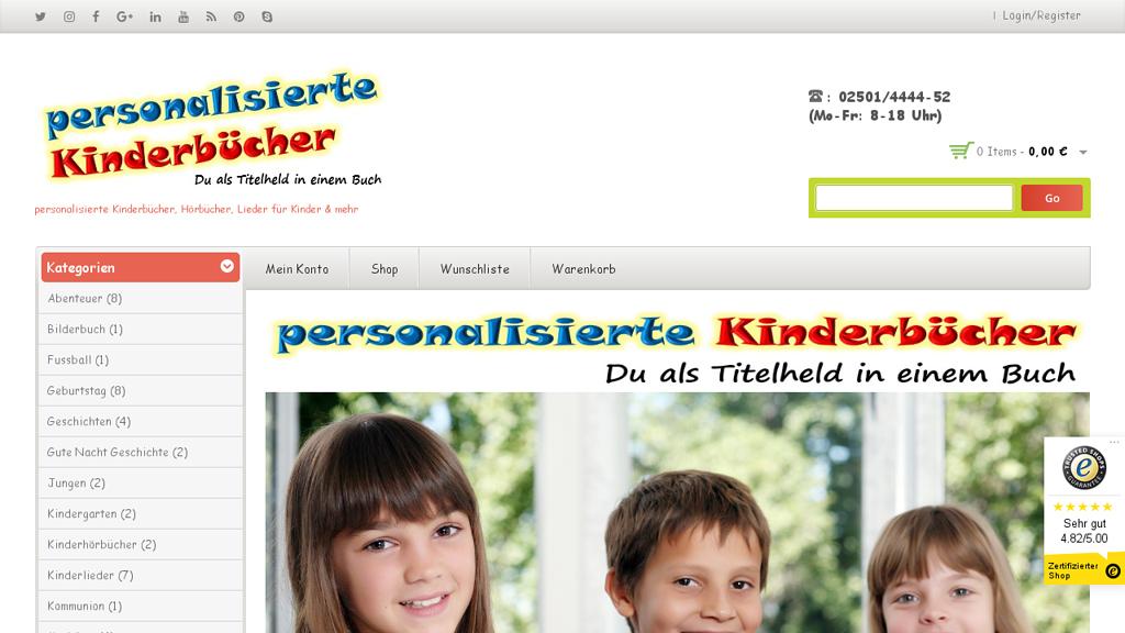 Personalisierte-Kinderbücher.de Online-Shop