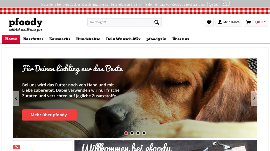 pfoody Online-Shop