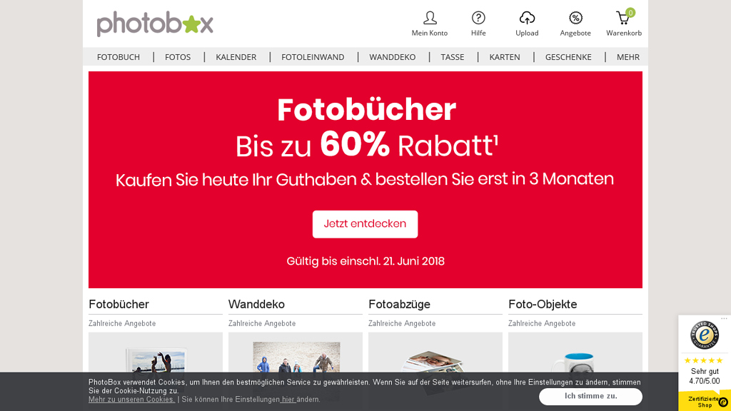 Photobox Online-Shop