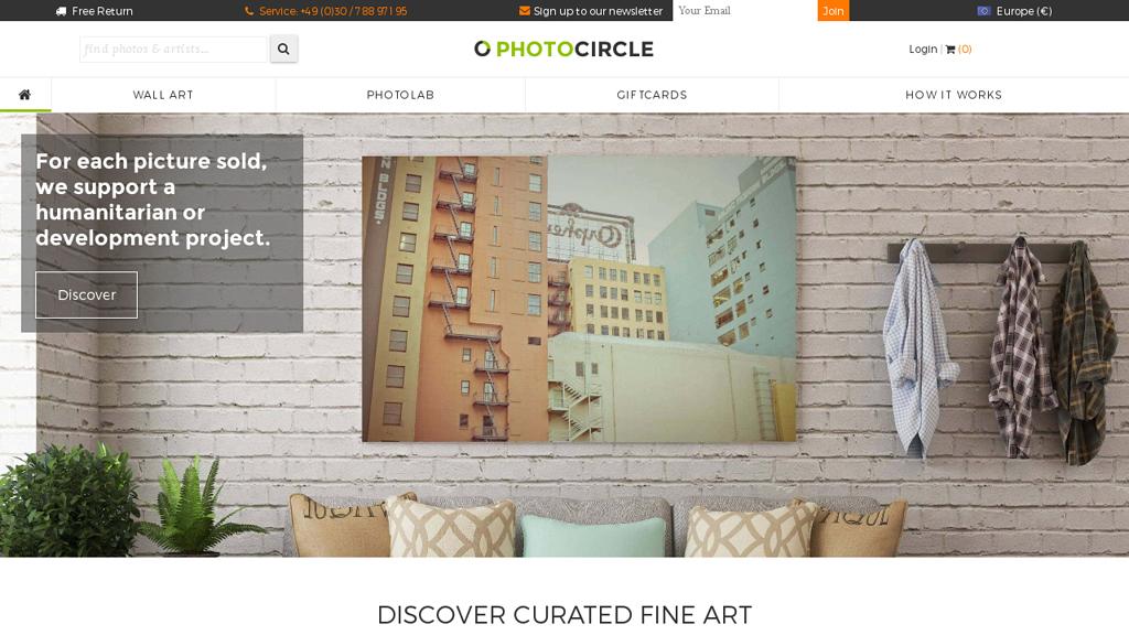 Photocircle Online-Shop