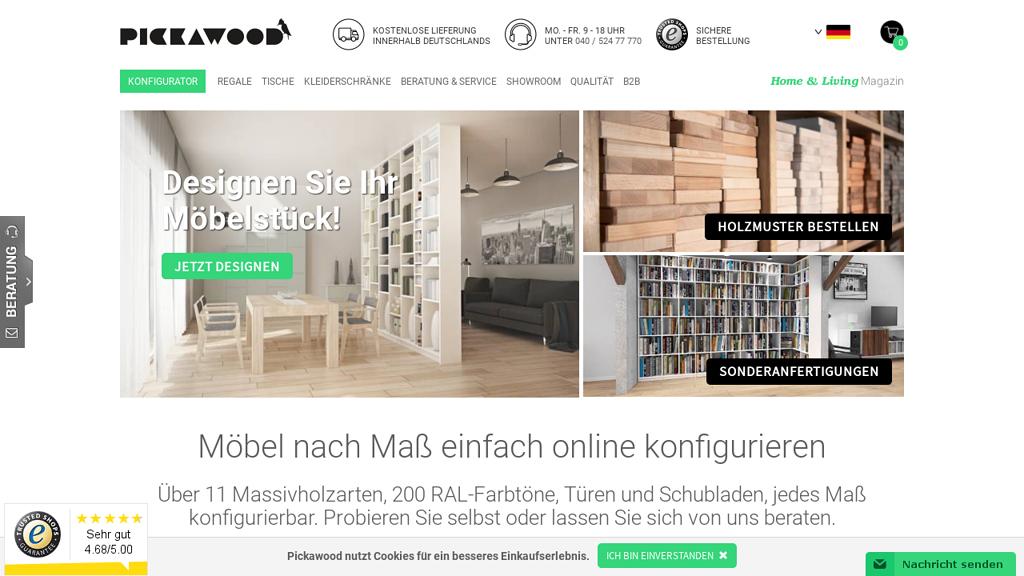 Pickawood Online-Shop