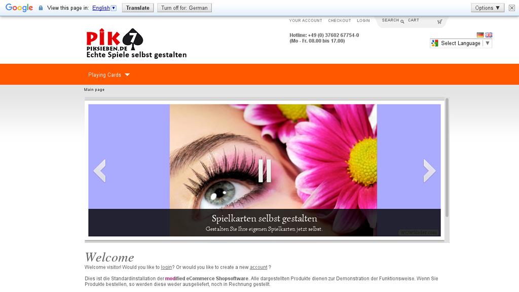 Pik7 Online-Shop