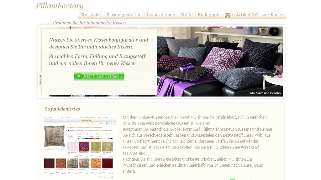 PillowFactory Online-Shop