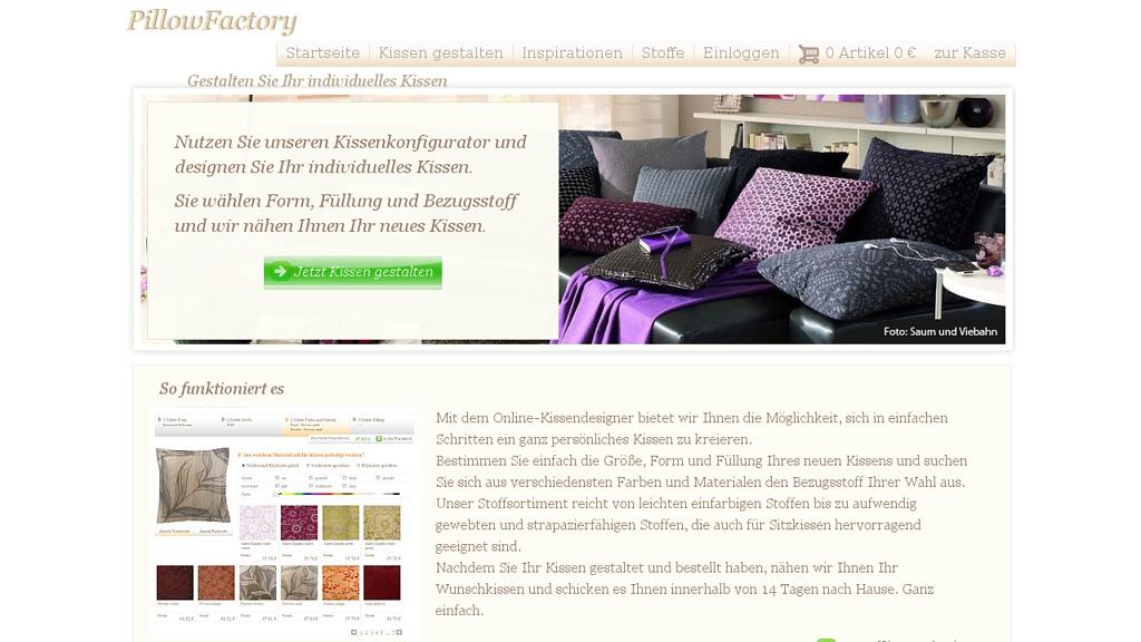 PillowFactory Online-Shop