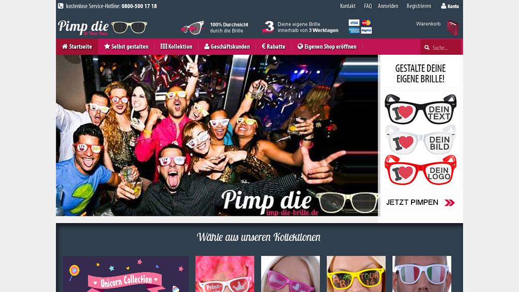 Pimp die Brille Online-Shop