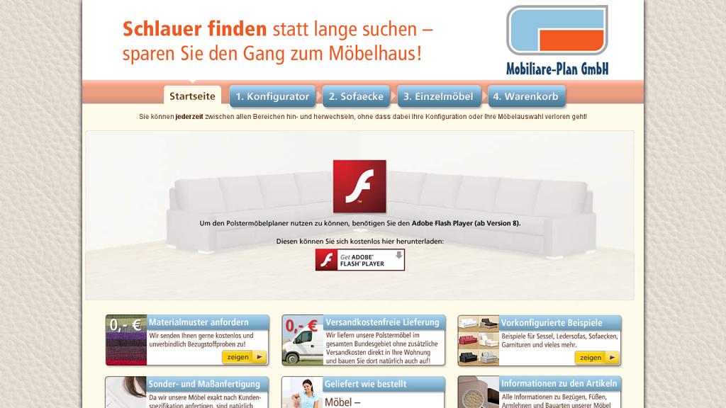 Polstermöbelplaner Online-Shop