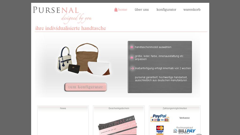 Pursenal Online-Shop