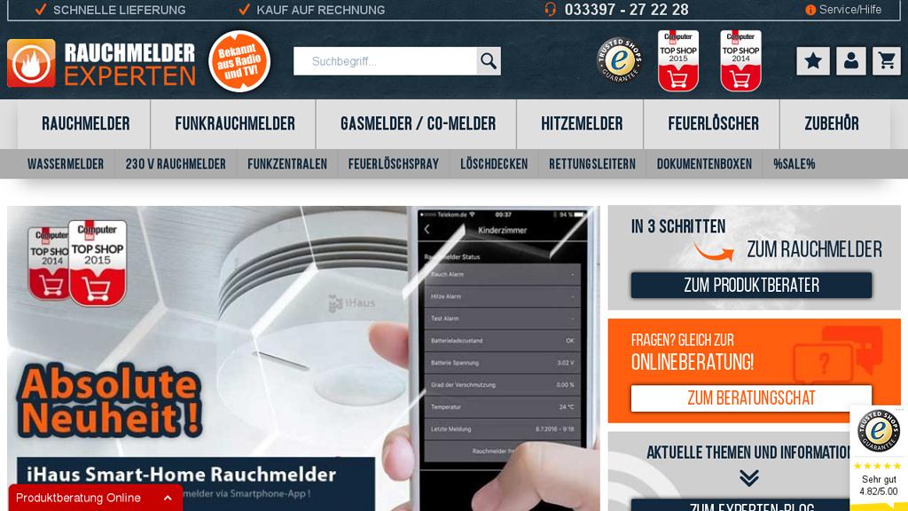 Rauchmelder Experten Online-Shop