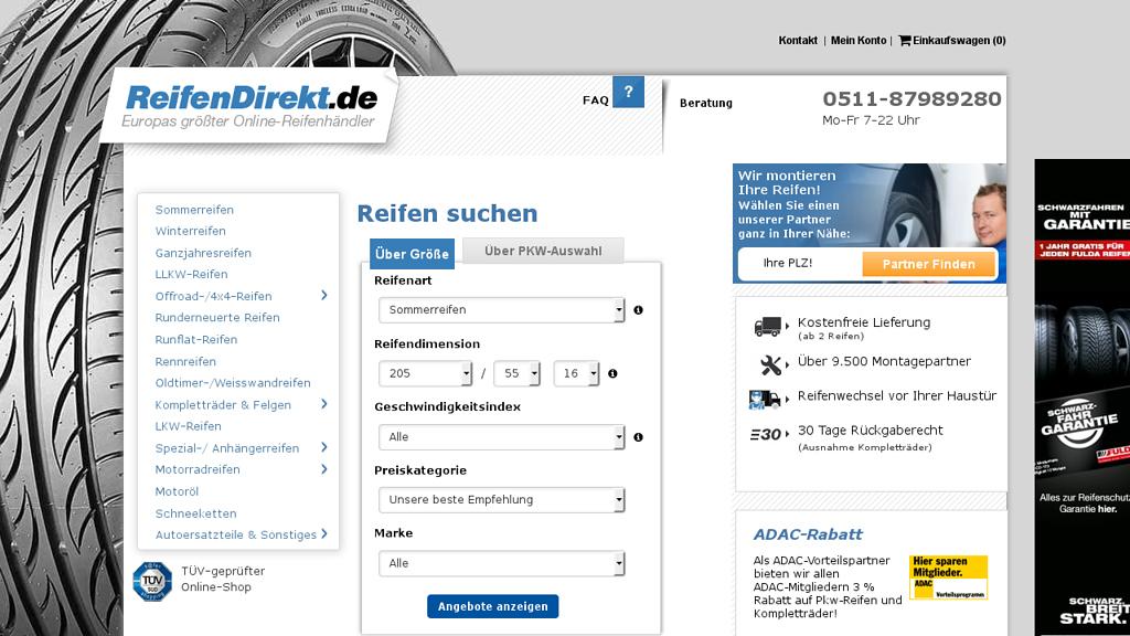 ReifenDirekt Online-Shop