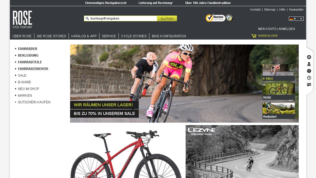Rose Bikes Online-Shop