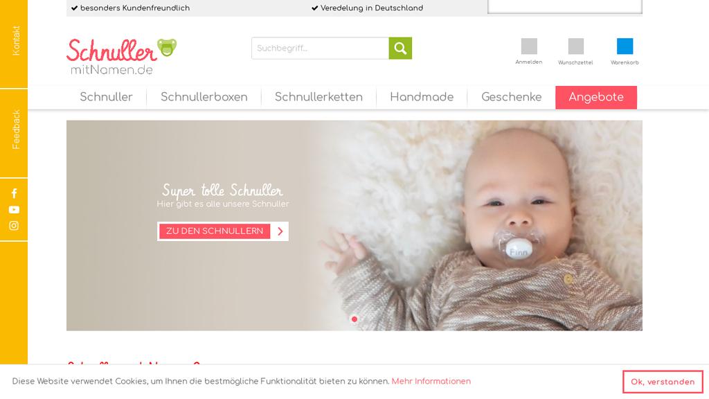 Schnuller mit Namen Online-Shop