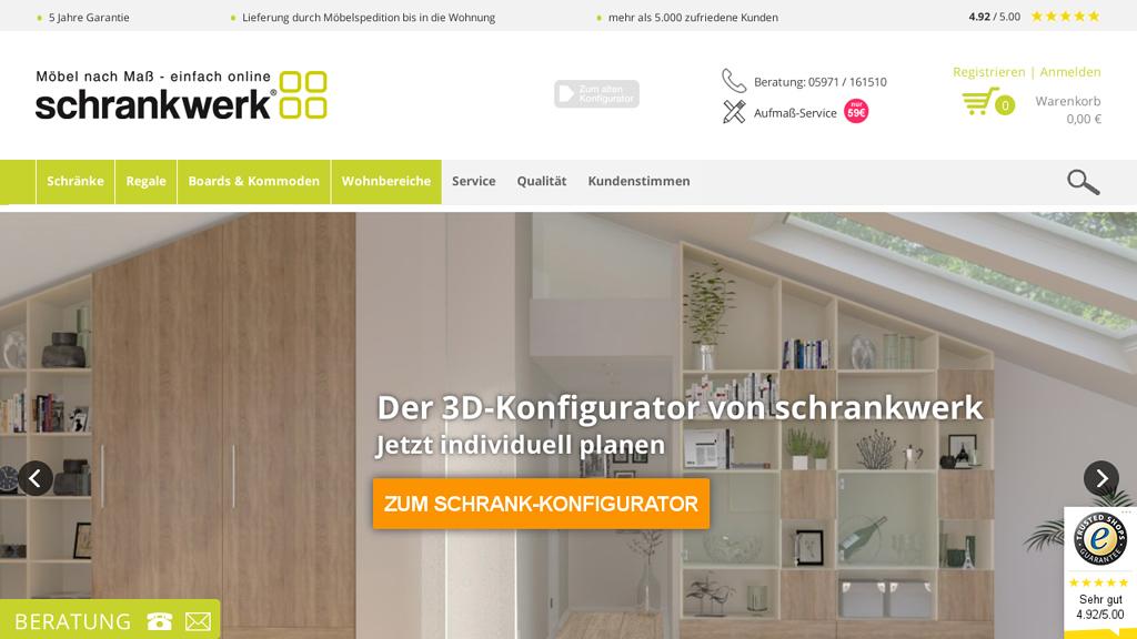 Schrank Werk Online-Shop