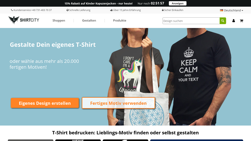 Shirtcity Online-Shop