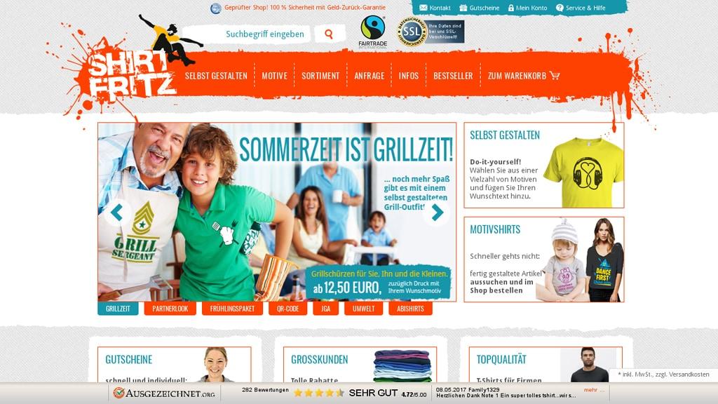 Shirtfritz Online-Shop