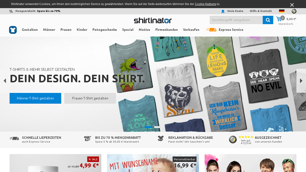 Shirtinator Online-Shop