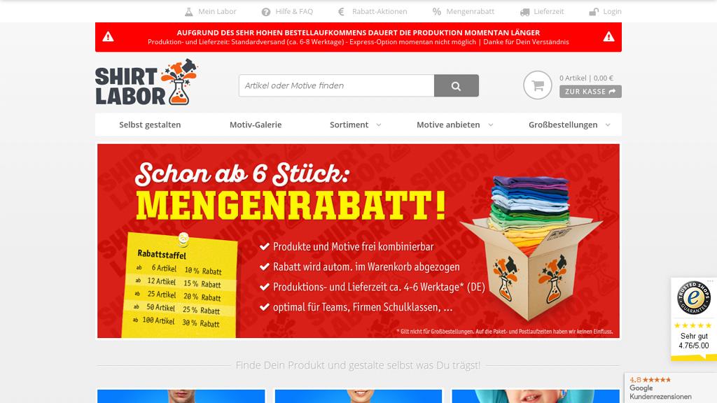 Shirtlabor Online-Shop