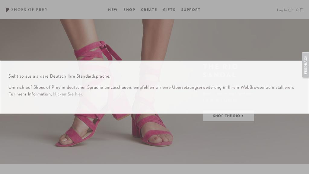 Shoes of Prey Online-Shop
