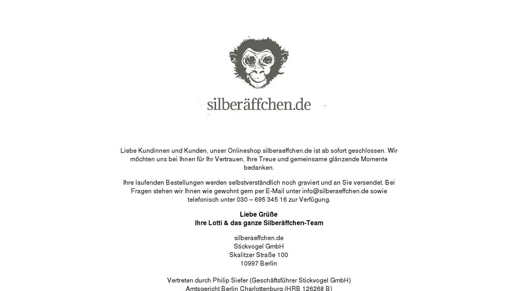 Silberäffchen Online-Shop