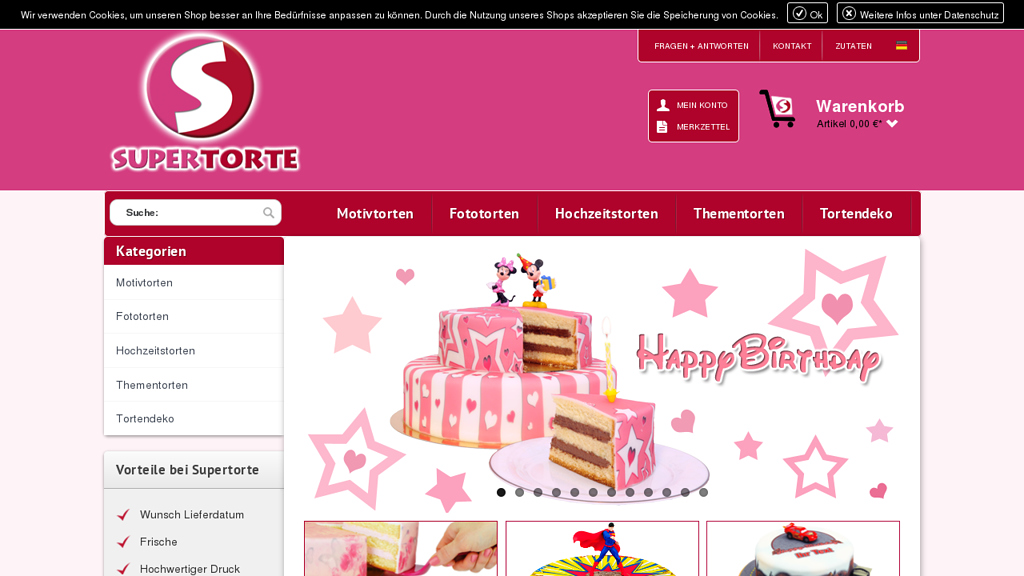 Supertorte Online-Shop