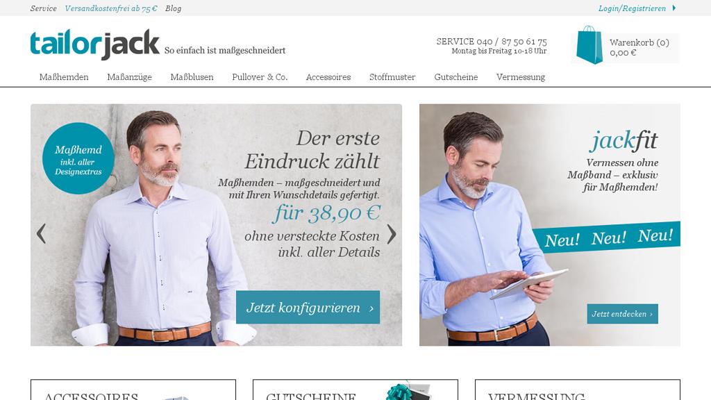 tailorjack Online-Shop