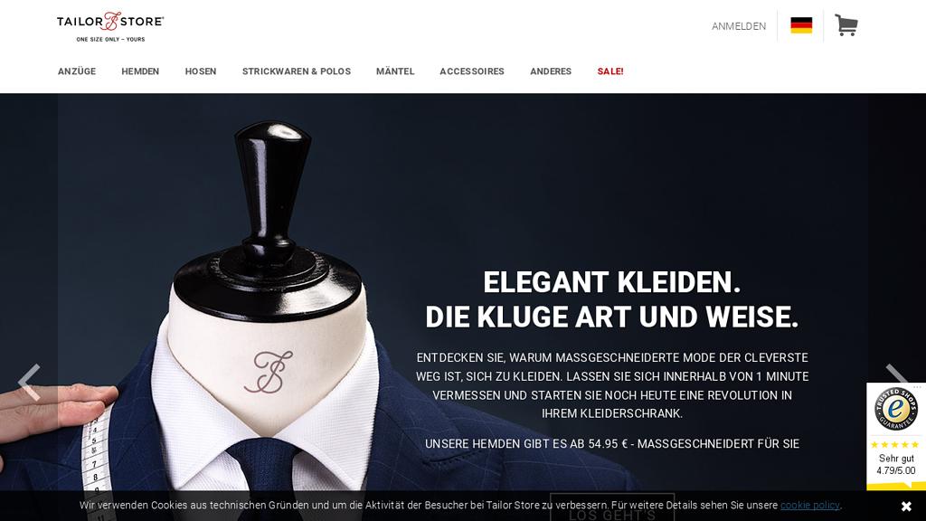 Tailor Store Online-Shop