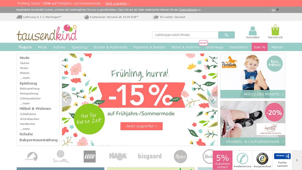 tausendkind Online-Shop