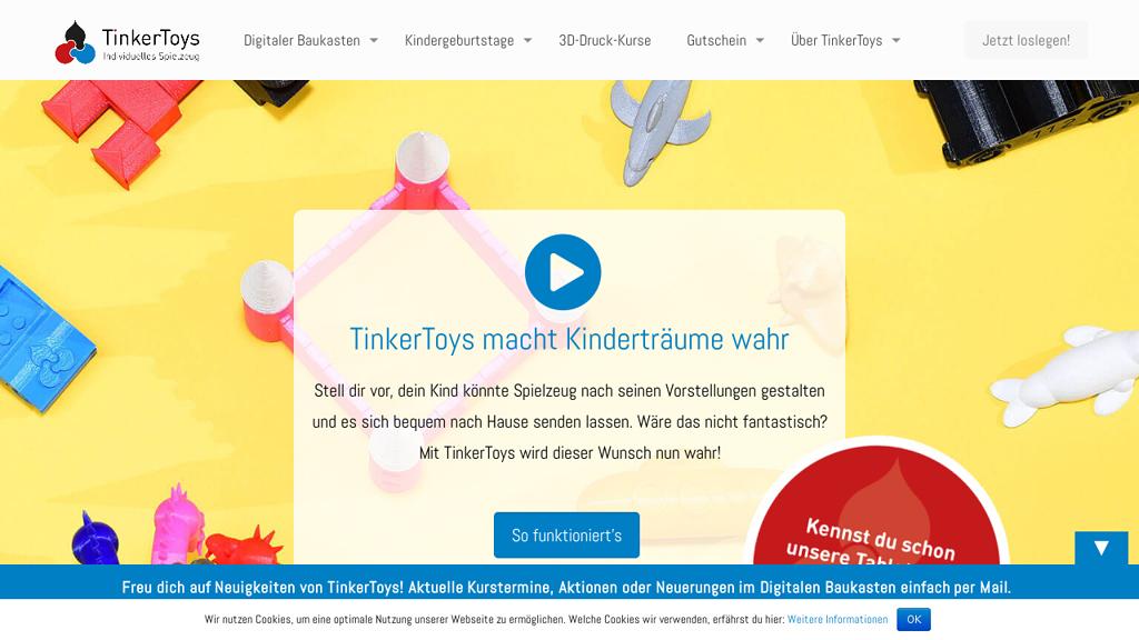TinkerToys Online-Shop