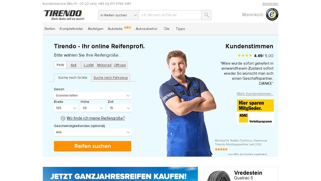 Tirendo Online-Shop