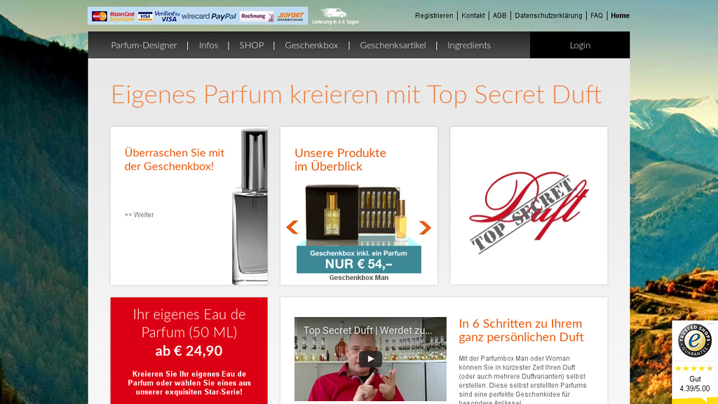 Top Secret Duft Online-Shop
