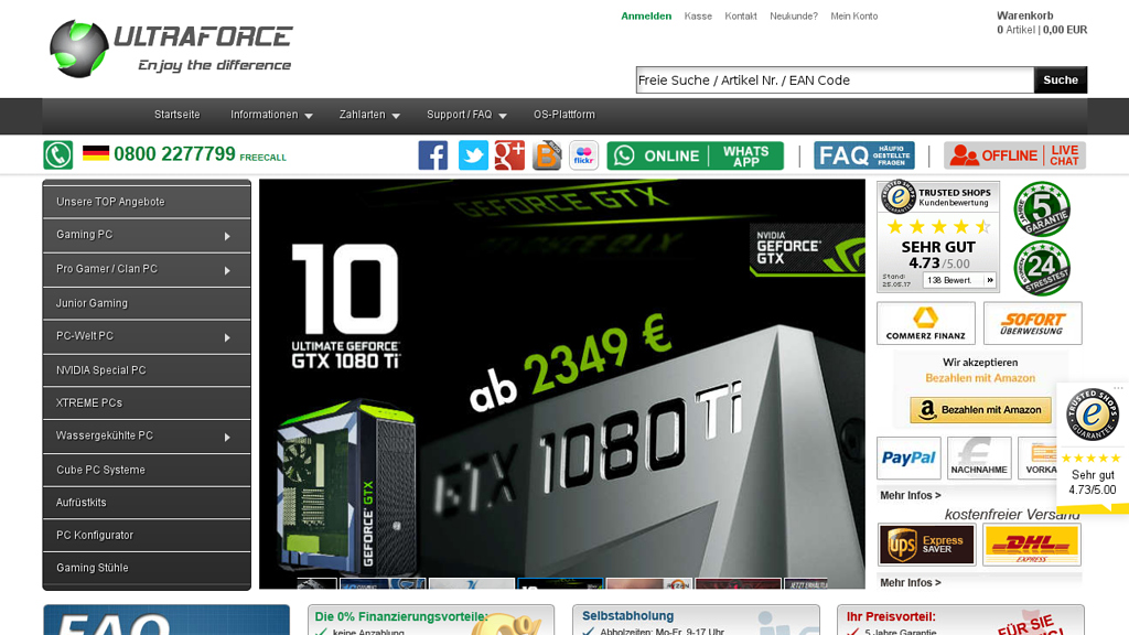 Ultraforce Online-Shop