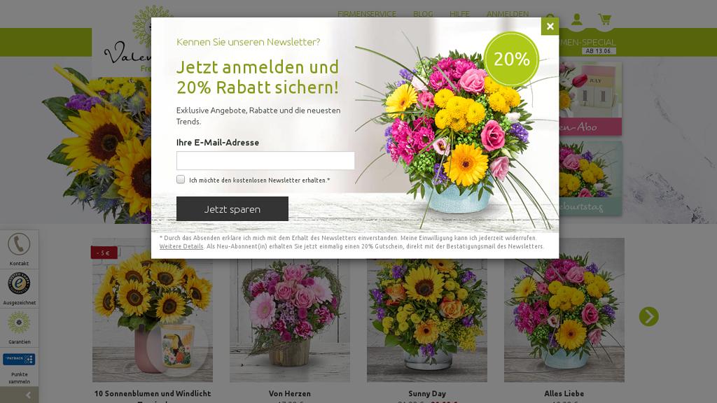 Valentins Online-Shop