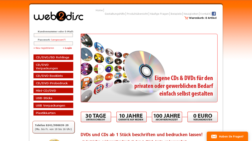 Web2Disc Store