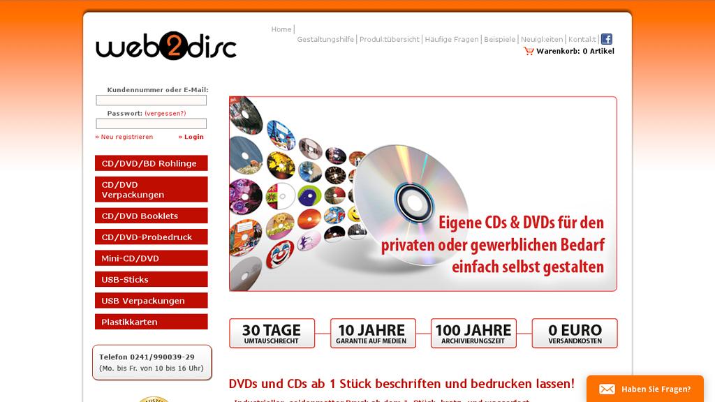 Web2Disc Store