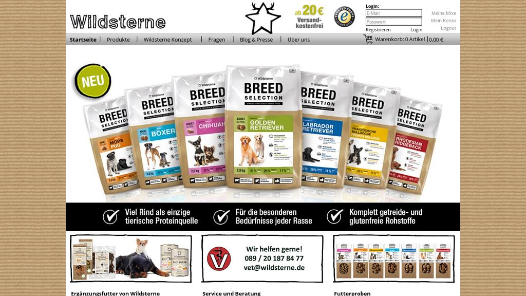 Wildsterne Online-Shop